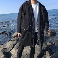 秋季风衣男士中长款春秋大衣2018新款外套韩版潮流