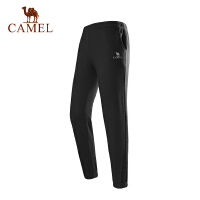 【满259减200元】camel骆驼运动裤情侣款春新透气耐磨跑步健身跑步男女针织长裤