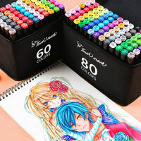 正品Touch mark双头油性马克笔套装初学者彩色绘画手绘水彩笔美术生专用小学生动漫24色36色60/80/1000