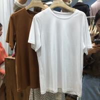 en spce 2018夏纯色圆领短袖打底约莫代尔T恤女 均码