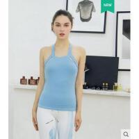 紧身气质美观长款吊带背心无袖瑜伽上衣运动跑步速干性感健身服女