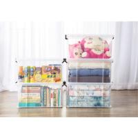 透明收纳箱塑料加厚储物箱儿童玩具收纳盒特大号衣服整理箱子 长方形直角收纳箱