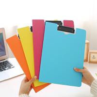 树德文件夹A4学生考试卷夹办公用品板夹资料夹协议文件收纳整理简易夹面试简历本清新款合同签约本书写垫板夹