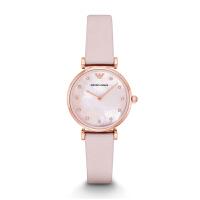 阿玛尼(Emporio Armani)手表 满天星皮带女士时尚简约石英腕表AR1958