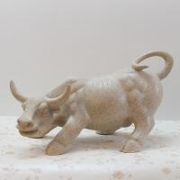 树脂工艺品 现代简约砂岩牛摆件家居装饰品客厅摆设 灰色 31*18*17.5