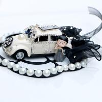 【好货】可爱小丸子老爷车车载摆件花朵蝴蝶结汽车饰品香水座女士车内装