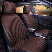 汽车坐垫新款四季通用亚麻座垫免捆绑冬季坐垫防滑汽车专用座垫套