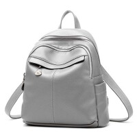 女士书包 学院风包包 休闲软皮背包 双肩包 旅行包