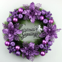 圣诞装饰品花环大号圣诞节装饰品挂饰挂件橱窗布置商场门挂