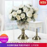 欧式玻璃花瓶摆件大号客厅餐桌插花花器创意摆件ins装饰品干花瓶 自店营年货
