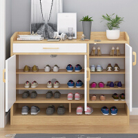 简易鞋柜多层防尘鞋架家用门口放鞋的架子经济型两门三门储物柜子