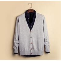 男针织衫开衫外套毛衣薄款韩版修身学生纯色长袖外套