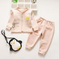 三岁女宝宝保暖内衣1岁3加绒加厚0女婴儿童秋衣秋裤套装纯棉外穿2