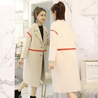 大衣女中长款2018新款秋冬韩版修身毛呢外套宽松显瘦大衣