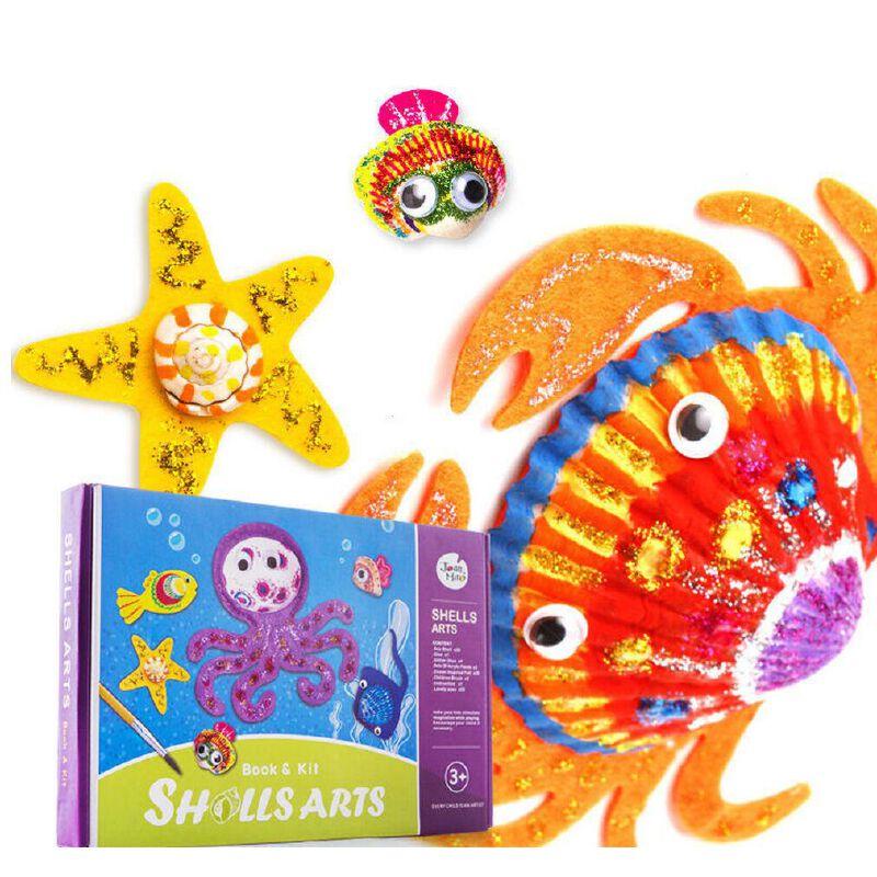美乐(JoanMiro)儿童画画套装 创意贝壳绘画套装 礼盒安全丙稀颜料创意绘画推荐礼物 线上支付满58包邮