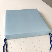 乳胶坐垫座垫办公室电脑椅转椅垫子学生凳子长方形椅子餐椅垫定制 浅蓝色 凉感软席-夏季款 45*45 cm (厚 7.5