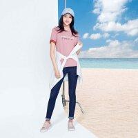 【1件3折到手价:10.5】美特斯邦威短袖T恤女星期T纯棉多色上衣韩版夏装新款商场款
