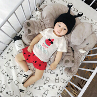 婴儿套装夏装新生儿外出薄款纯棉短袖短裤夏季两件套宝宝衣服