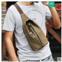 新款胸包男士包包包休闲帆布小包斜挎包男个性单肩包运动腰