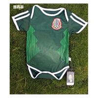 2018世界杯足球服 墨西哥队BB装 婴儿连体装 婴儿宝宝足球服 国家队足球服 红色
