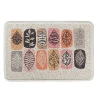 新中式环保高弹丝圈柔软防滑地垫 耐磨蹭土垫可水洗入户门垫脚垫 诗意的叶子