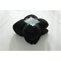 法莱绒珊瑚绒毛绒保暖被套床单床笠单件条纹加厚席梦思床垫套 黑色条纹 法莱绒 +2只枕套
