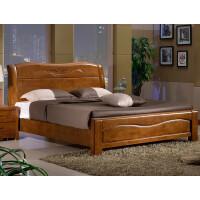 实木床 实木双人床 1.5米1.8米橡木床 现代中式高箱储物床 床+2+ 1800mm*2000mm 箱框结构