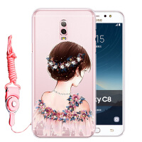 三星Galaxy C8手机套SM-C7100保护套C7108手机壳硅胶软壳防摔水钻