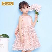 笛莎童装女童连衣裙22夏季新款儿童优雅时尚裙子小公主礼服裙