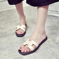 ELEISE美国艾蕾莎新品156-123韩版塑料平跟女士拖鞋