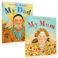 英文原版 My Dad My Mum 2册 大开 平装 我爸爸我妈妈 幼儿亲情启蒙图画书Anthony Browne安东尼布朗 学前教育童书