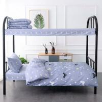 被子床垫床单枕头六件套全棉大学生上下床宿舍三/四件套纯棉单人床被套床单男1.2m米