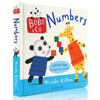 儿童英文原版绘本 Bobo Co Numbers *认数字 低幼儿童数字英语启蒙认知 纸板翻翻书 进口书 正版