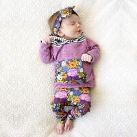 INS童装女童秋装卫衣套装0-1-2岁宝宝秋装婴儿儿童外出卫衣服装