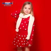 铅笔俱乐部童装女童套装2018秋冬新款长袖毛衣半身裙两件套中大童
