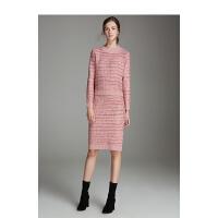 颜域女装秋冬2018新款小香风套装针织毛衣中长款半身裙气质两件套