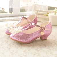 韩版时尚儿童单鞋水晶公主鞋舞蹈鞋皮鞋春秋季女童高跟鞋