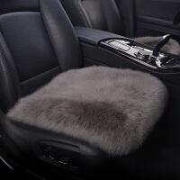 �羊毛汽�坐�|�o靠背三件套皮毛一�w�纹�小方�|保暖冬季�L毛座�|