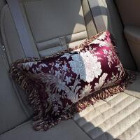 布艺沙发靠垫客厅房间车内40*60含芯腰靠腰垫欧式抱枕长方形靠枕