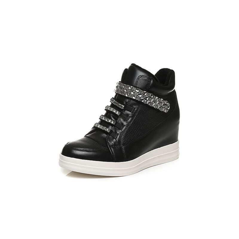 Belle/百丽冬季专柜同款黑牛皮革女皮靴(绒里)BHY40DD6