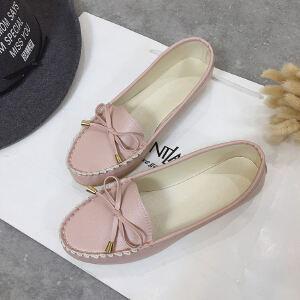 WARORWAR 2019新品YM76-x668四季休闲鞋磨砂反绒平底鞋舒适女鞋潮流时尚潮鞋百搭潮牌豆豆鞋