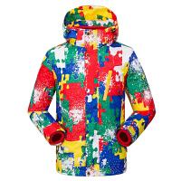 男女两件套三合一防水保暖透气户外迷彩冲锋衣儿童外套