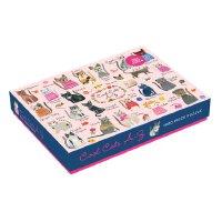 Cool Cats A-Z 1000 Piece Puzzle 英文原版 1000块拼图:认识不同的猫咪 儿童启蒙益智