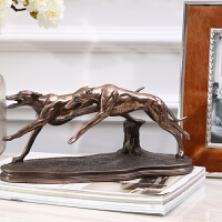 创意办公室摆件会所样板房客厅玄关树脂动物雕塑装饰品摆件书柜装饰品