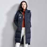 梵希蔓宽松羽绒服女中长款2018新款女羽绒棉衣外套
