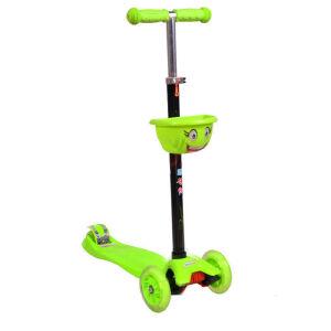 【当当自营】炫梦奇儿童滑板车 四轮闪光 3档高低可调节滑行车 101绿色