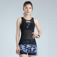 户外运动健身服女瑜伽服健身训练跑步背心网球服运动服女套装