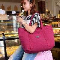 帆布单肩包挎包女包大包包防水尼龙超大容量休闲旅行购物包韩版潮