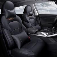 汽车座套2018款17款16款吉利博越1.8T智尊型四季专用定制全包坐垫 豪华版 黑色