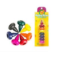 美乐 儿童玩具蜡笔3D宝宝画笔 美丽的彩虹蜡笔7色安全无毒可水洗